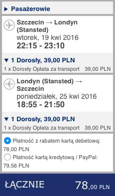 2016-04-19 Szczein lotnisko Marsylia Francja lot Ryanair 227 zl RT 1