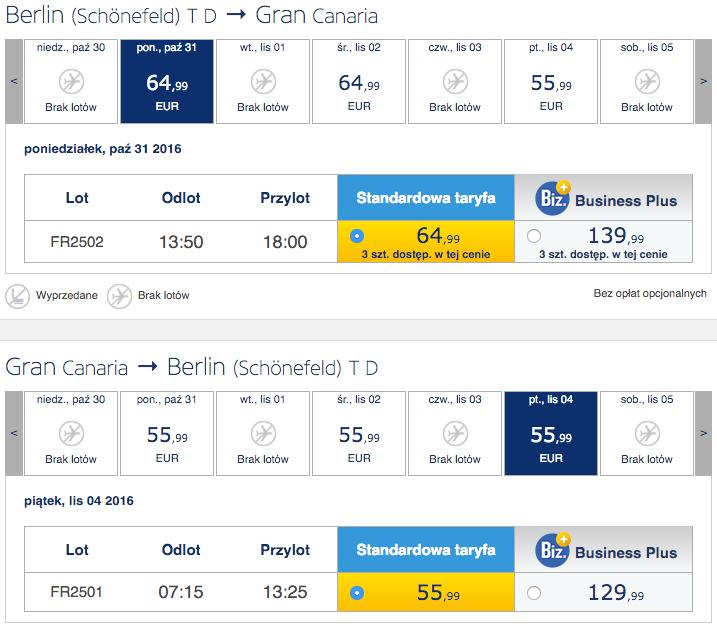 2016-11-01 Berlin Rzeszow Gran Canaria Sewilla Ryanair 3