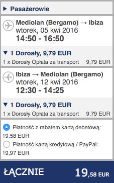 2016-04-05 Berlin Bergamo Ibiza Ryanair 176 zl RT 2