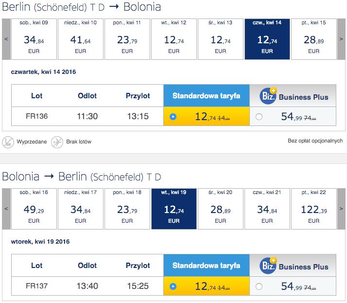 2016-04-14 Bolonia Rzym Florencja 150 zl RT Ryanair Megabus 1