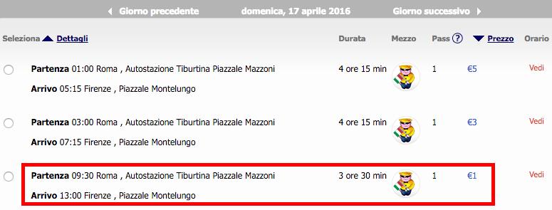 2016-04-14 Bolonia Rzym Florencja 150 zl RT Ryanair Megabus 3