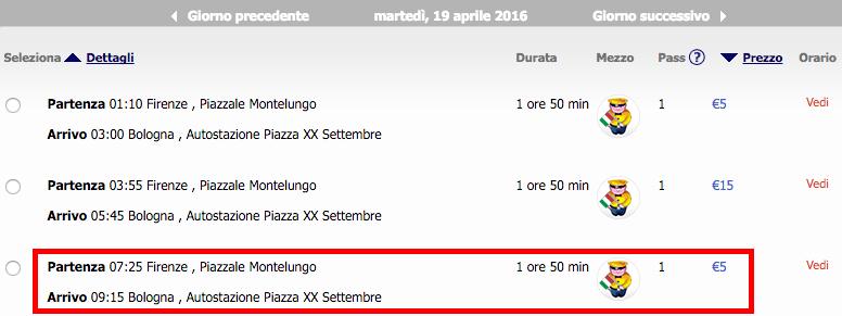 2016-04-14 Bolonia Rzym Florencja 150 zl RT Ryanair Megabus 4