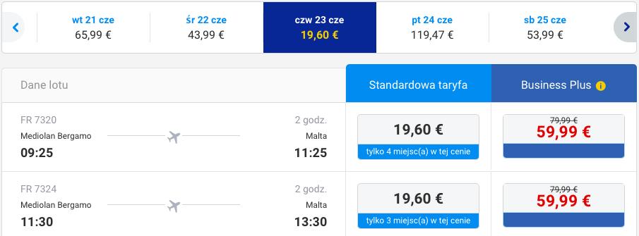 2016-06-23 Berlin Malta Ryanair Wakacje 250 zl RT 2