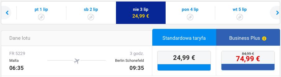 2016-06-23 Berlin Malta Ryanair Wakacje 250 zl RT 3