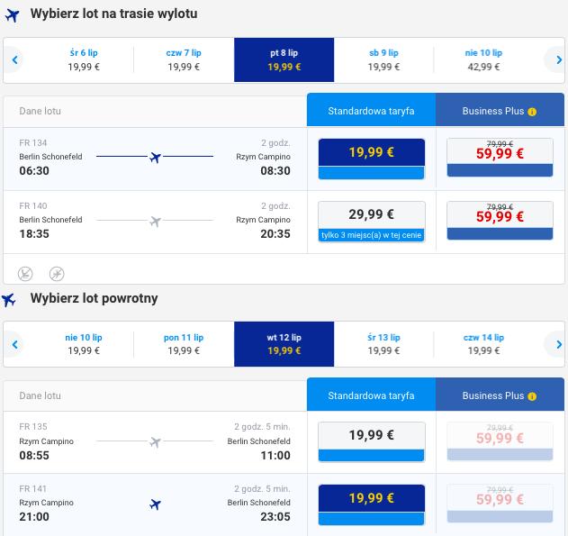 2016-07-08 Berlin Rzym wakacje Ryanair 176 zl RT 1