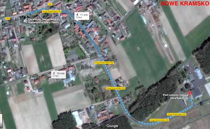 Dojazd Autobus Lotnisko Zeilona Gora-Babimost przystek airport 1a